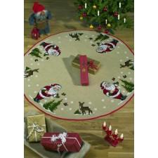 Kerstkleed kerstman/hertjes - Christmas Skirt - Weinachtteppich