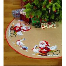 Kleed kerstman zit op slee met gans XL - Maxi Pixie/Geese - Maxi Zwerg/Gaense