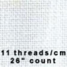 Linnen 10 dr/cm 26 Wit - white
