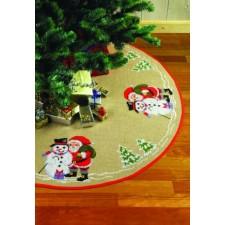 Kerstman met sneeuwpop - Santa Claus/Snowman & ban