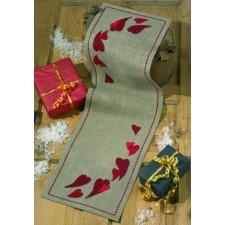 Kerstlopertje kerstharten - Hearts for christmas - Herz für Weihnacht