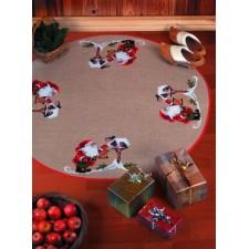 Tafelkleed kerstman met lantaarn - Pixie w/corn - Zwerg m/Korn