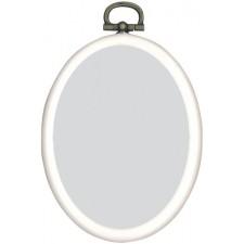 Plastic frame oval 7x9cm white