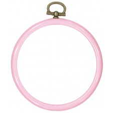 Plastic frame round 8cm Ø pink