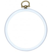 Plastic frame round 8cm Ø light blue
