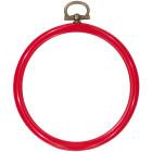 Kunststoflijst rond 14cm Ø (rond) (rond)  rood