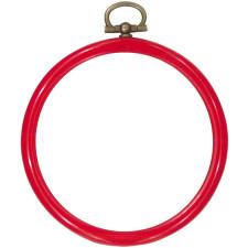Plastic frame round 8cm Ø red
