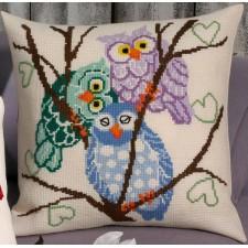 Kussen 3 uilen - 3 owls