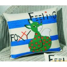 Kussen Feeling Foxy - groene vos