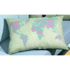 World map greyblue