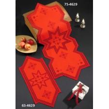 Kerstlopertje hardanger rode ster - Hardanger w/red star