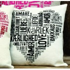 Cushion Liefde zwart - Love black