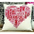 Cushion Liefde rood - Love red
