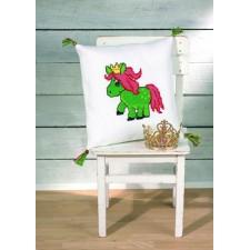 Kussen groen paard