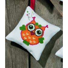 Pincushion,orange owl