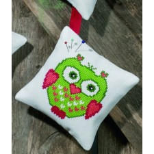 Pincushion,Green owl