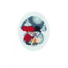 Snowman & Elf card