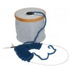 Wool dispenser Canvas & bamboo foldable blue