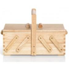 Naaibox hout blank S