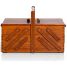 Naaibox hout donker L
