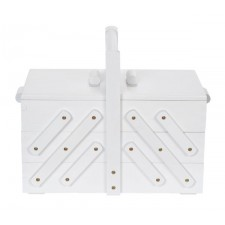 Sewing box wood M white