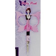 Borduurschaartje engel roze: Polly Pink