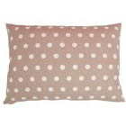 Cushion made up light brown with dots