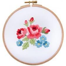 (OP=OP) Tea Time serie Rode en blauwe bloemen