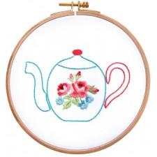 Tea Time serie Theepot bloemen