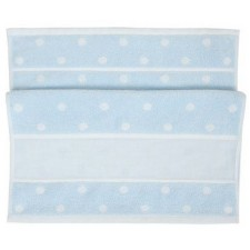Handdoek lichtblauwe/witte stippen