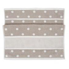Handdoek beige/witte stippen