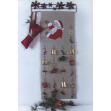 Wandhangertje kerst: adventskalender