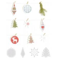 Kerst borduurpapier - paper poetry