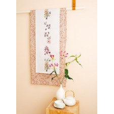 Tafelband wilde bloemen met vogel