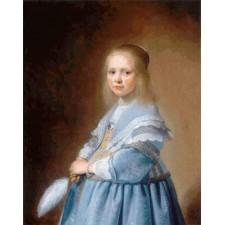 Portrait of a Girl Dressed in Blue - Johannes Verspronck