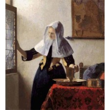 Young Woman with a Water Jug - Johannes Vermeer