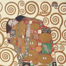 Fulfillment (detail) - Gustav Klimt