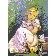 Meisje met kleine poesjes