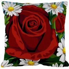 Kussen Rode roos - La rose rouge