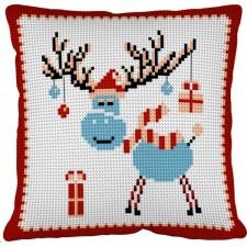 Kussen Kersthert- Le cerf de noël