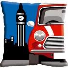 Kussen Auto in Londen (Mini)