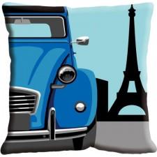 Kussen Auto in Parijs (2CV)