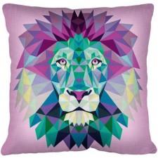 Borduurkussen gestyleerde Leeuw