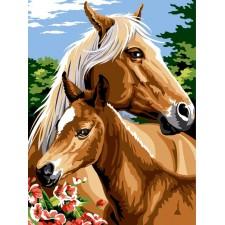 Paard met veulen - Mon poulain