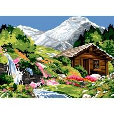 Waterval in de bergen - La petite cascade du mur