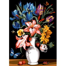 Bloemen en fruit - Fleurs et fruits