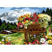 Bloemenkar in de bergen - La charrue