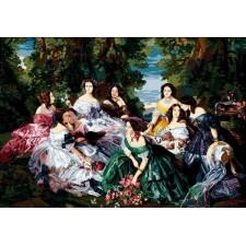 Keizerin Eugénie en haar hofdames - Eugénie et ses dames d'honneur (Franz Xaver Winterhalter)