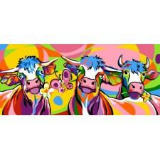 4 Gestileerde koeien - Les vaches