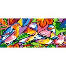 4 Gestileerde vogels - Les oiseaux